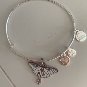Alex&Ani  purple butterfly  bracelet